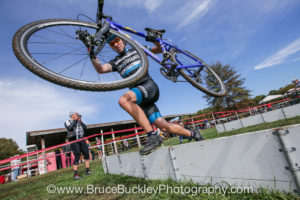 Alex Alfano doing it dirty at Tacchino Ciclocross. Photo © 2014 Bruce Buckley