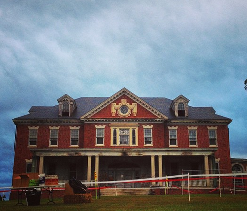 Abandoned Psychiatric Hospital ... Psycho Cross ... Get it?
